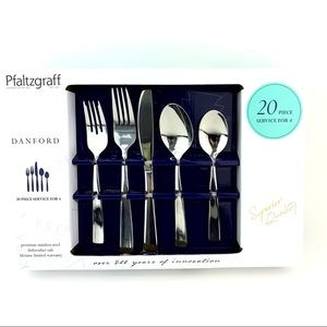 Pfaltzgraff Danford 20 Piece Stainless Steel